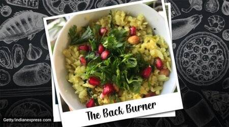 summer recipe, breakfast recipe, snack recipe, mango recipe, raw mango poha, The Back Burner, poha recipe