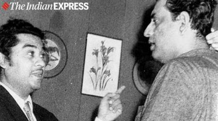 satyajit ray with kishore kumar