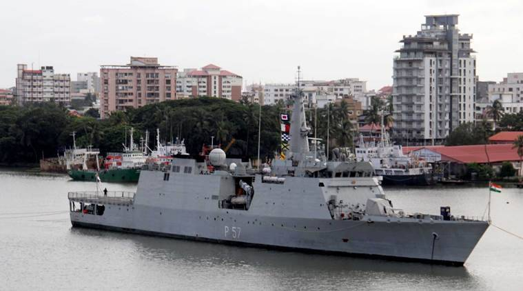 ins sunayna, indian navy, anti-piracy deployment, kochi port, southern navy command, Gulf of Aden, indian express