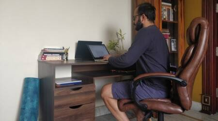 writers and workspaces, indianexpress, books and literature indianexpress, tanuj solanki, authors and isolation, covid-19, pandemic, writing, authors, books, who is tanuj solanki, tanuj solanki books,