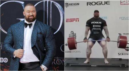 Hafthor Bjornsson, The Mountain deadlift record 501 kg, The Mountain, Game of Thrones the mountain, weightlifting records, weightlifting news