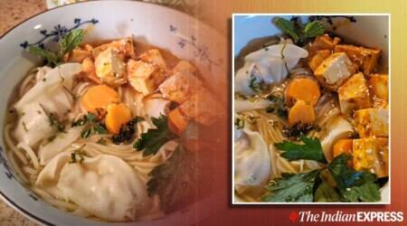 Spicy Tofu Noodle soup with dumplings, anahita dhondy recipes, how to make thukpa at home, indianexpress.com, thukpa, noodle recipes, easy noodle recipe