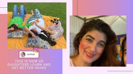 Twinkle Khanna, Twinkle Khanna daughter make over, Twinkle Khanna daughter makeup, Twinkle Khanna daughter funny post, viral news, entertainment news, indian express