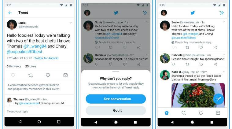 Twitter, Twitter replies, Twitter new feature, Twitter restricted replies, Twitter selective replies, Twitter hate speech, Twitter block people, Twitter follower replies