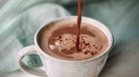 vegan hot chocolate, vegan milk sugar free hot chocolate, sugar free beverages, sugar free drinks, how to make vegan milk, indian express news