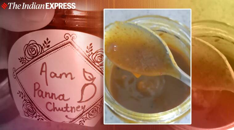 aam panna chutney, how to make aam panna, indianexpress.com, indianexpress, raw mango recipes, chef anahita dhondym anahita dhondy easy recipes, quick recipes, tangy recipes, raw mango easy recipes, how to use raw mango, aam panna juice,