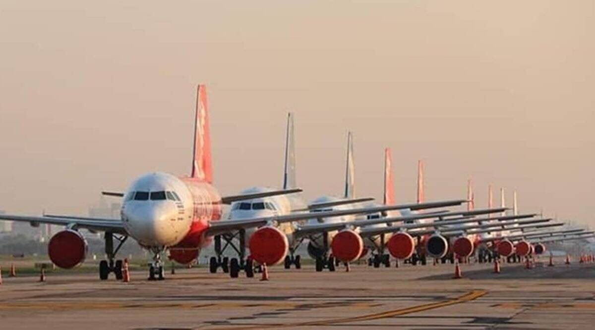 Airlines, Airlines operations, india lockdown, india flights, india planes, airasia, flight tickets, coronavirus, indian express