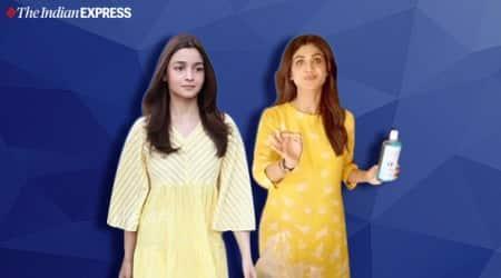 shilpa shetty, alia bhatt, alia bhatt pictures, alai bhatt kurta yellow, ethnic yellow looks, indian express news