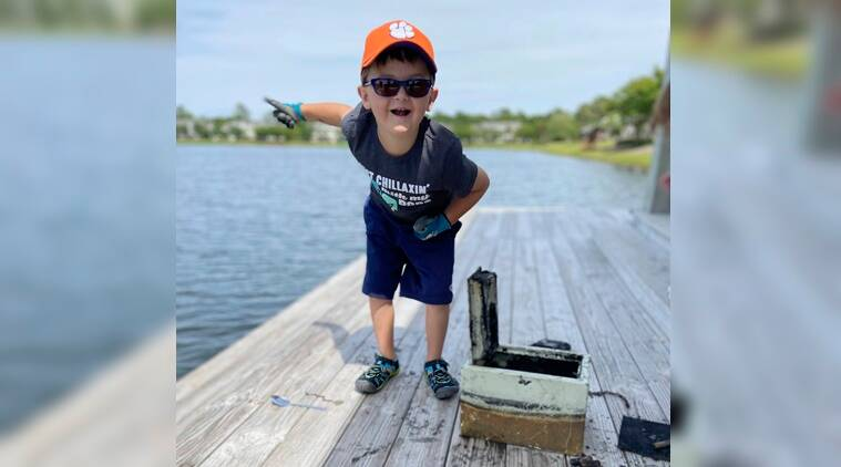 Boy, fishing, magnet fishing, Lockbox, robbery, unsolved robbery, Johns Island, South California, Trending news, Indian Express news
