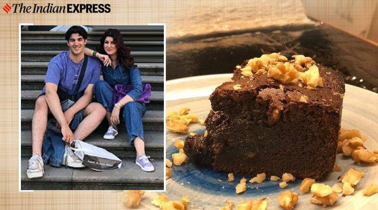 baking, chocolate cake baking, twinkle khanna, twinkle khanna cake baking, 3 ingredient baking cake, indian express news