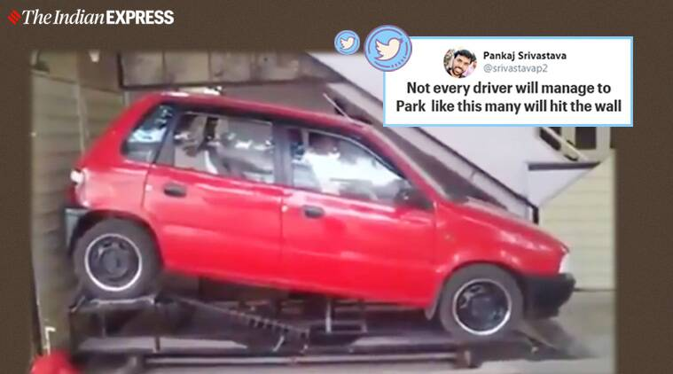 anand mahindra, parking space viral video, parking solution, indian jugaad, funny video