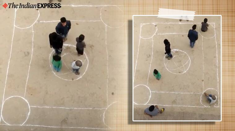 This video of a group playing carrom using people is a hit on social media thumbnail