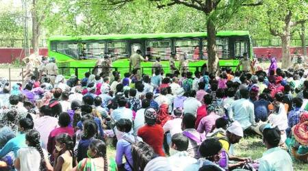 Thousands throng screening centre, UT arranges additional Shramik special train
