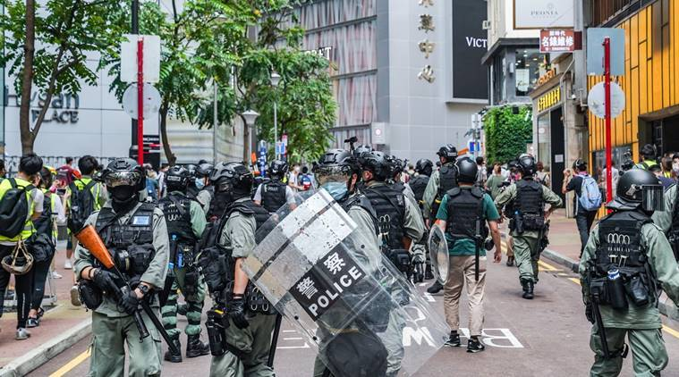 Hong Kong, China protests, US protests, US China face off, Express Editorial, Indian Express