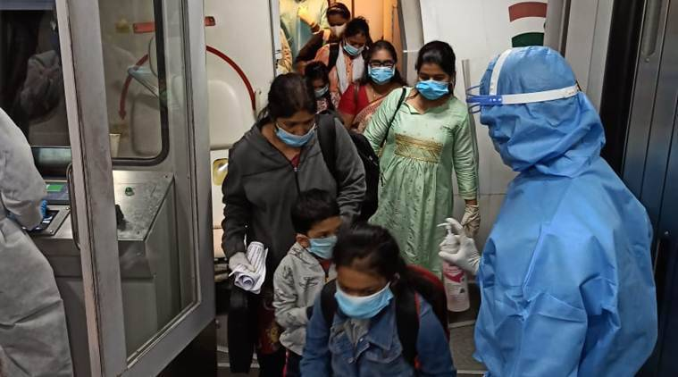 special flights evacuating indians , indiand stranded in uae, flights for indians in uae, coronavirus indians abroad, coronavirus news, indian express news