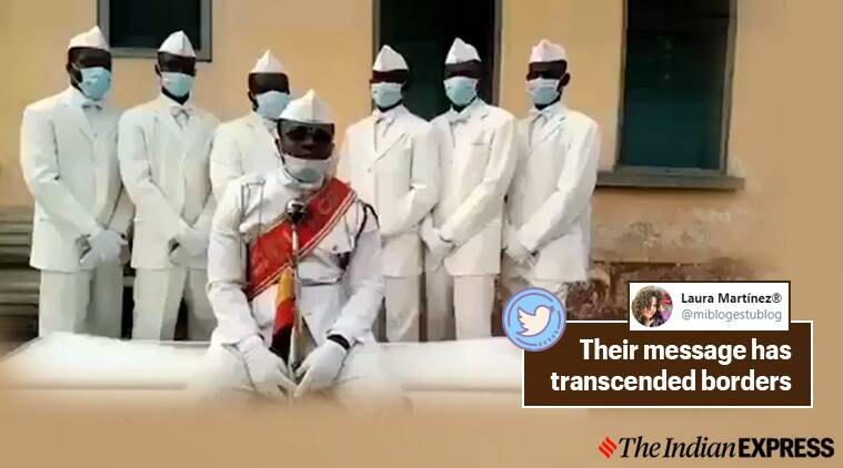 coffin dance guys, coffin dance memes, ghana funeral dance meme, ghana funeral dance videos, ghana pallbearers, ghana pallbearers stay home or dance with us, ghana pallbearers thanks doctors, viral videos, covid-19 pandemic memes, trending news,indian express