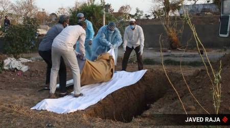Coronavirus Pune cases, Pune coronavirus cases, Pune coronavirus patient last rites, Pune coronavirus patient burial, Pune news, city news, Indian Express