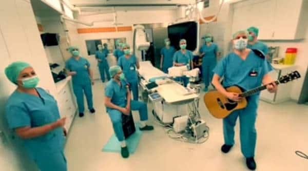 "covid-19, coronavirus, medical staff viral video, Michael Kiwanuka's song ""Love & Hate"", Cardiology team sing, trending, indian express, indian express news"