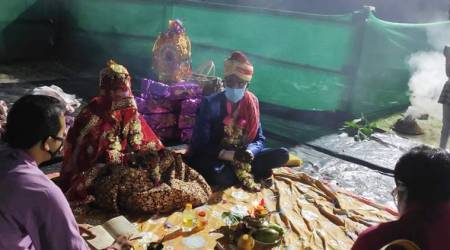 At Assam-Bengal border, a 'jugaad' lockdown wedding