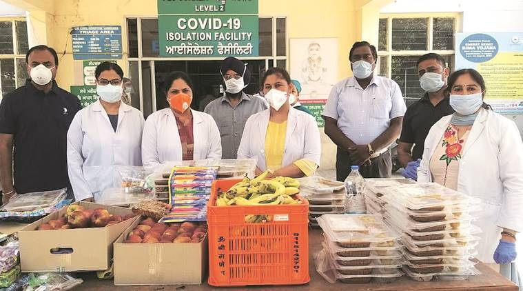 Covid patients, migrant workers, food supply, punjab news, Indian express news