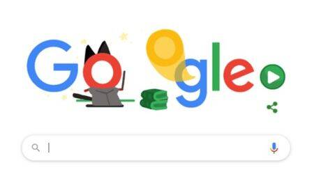 google doodle, google stay and play at home doodle, google doodle halloween game, google doodle games, covid-19 google throwback doodles, viral news, indian express