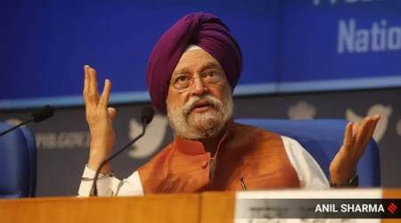 Hardeep Puri, Revenues of Indian airlines, Airlines revenue fall, Airlines during April-June, Covid-19 lockdown, India news, Indian express