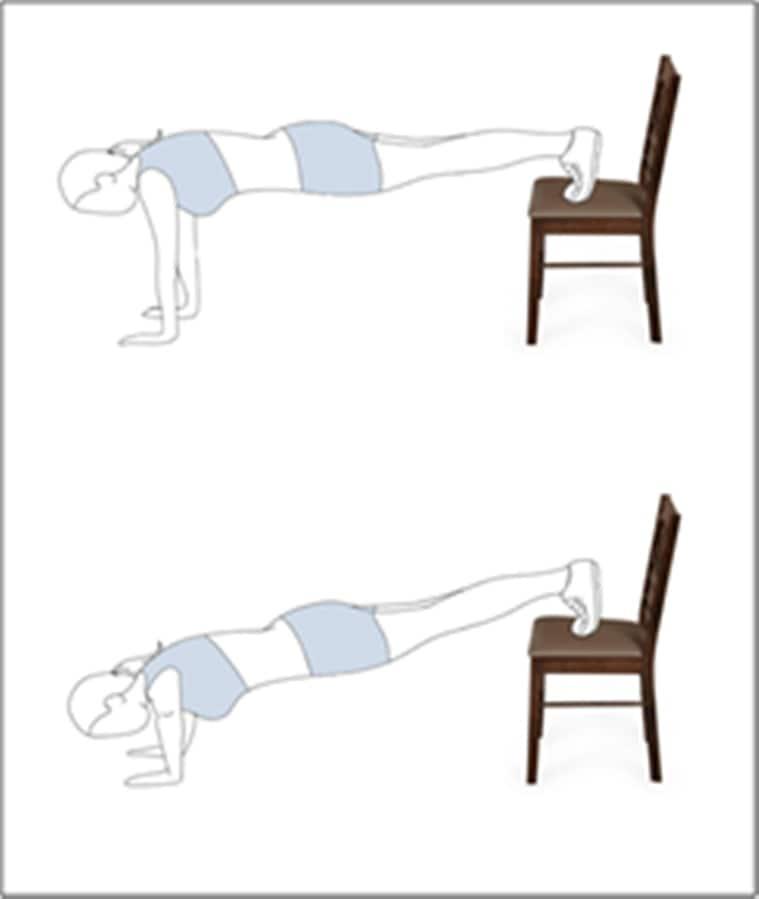furniture workout at home, home workouts, indianexpress.com, easy ways to workout at home, indianexpress, push-ups at home, how to workout at home, fitness goals, flipkart tips,