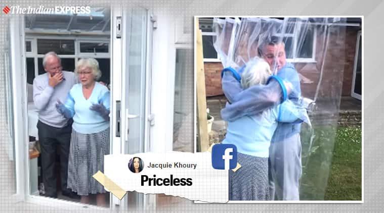 covid-19, coronavirus, lockdown, 'Cuddle Curtain', 'Cuddle Curtain' viral video, grandma 'Cuddle Curtain' viral video, facebook