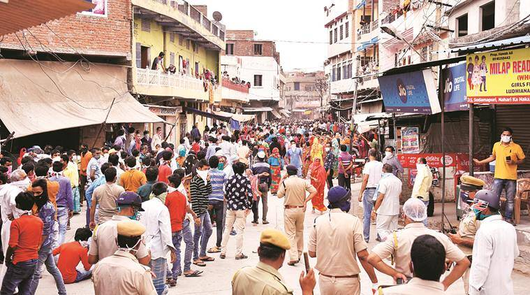 Coronavirus cases, India lockdown, migrants protest, Migrant workers, Jaipur news, Indian express news