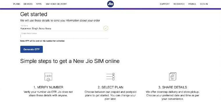 Sim card, order new new card from home, order new Airtel SIM from home, order new Vodafone SIM from home, order new Jio SIM from home