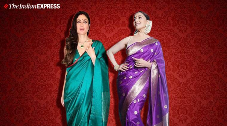 kareena kapoor, malaika arora, deepika padukone, karisma kapoor, alia raw mongo, raw mango sari silk, best fashion looks of the week, fashion hits and misses, indian express, indian express news