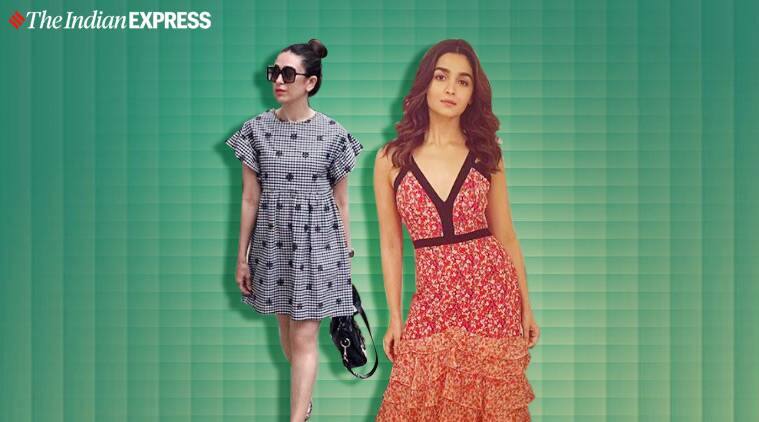 celeb fashion, alia bhatt, karisma kapoor, summer fashion, summer dresses, alia bhatt photos, indian express lifestyle