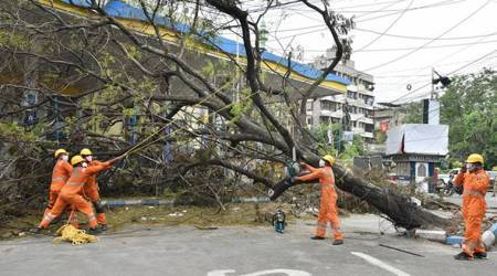 Cyclone Amphan, Cyclone Amphan West Bengal, West Bengal Cyclone Amphan, India news, Indian Express