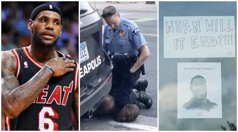 'Why doesn't America love us?': LeBron James mourns George ...