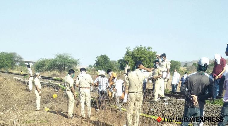 aurangabad train accident, migrants killed, migrants train accident, Train accident, india lockdown, coronavirus, aurangabad train accident live, maharashtra train accident, train accident, in Maharashtra