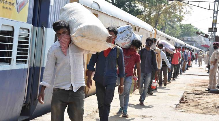 First batch of migrant workers leave Alang by Shramik train | India  News,The Indian Express