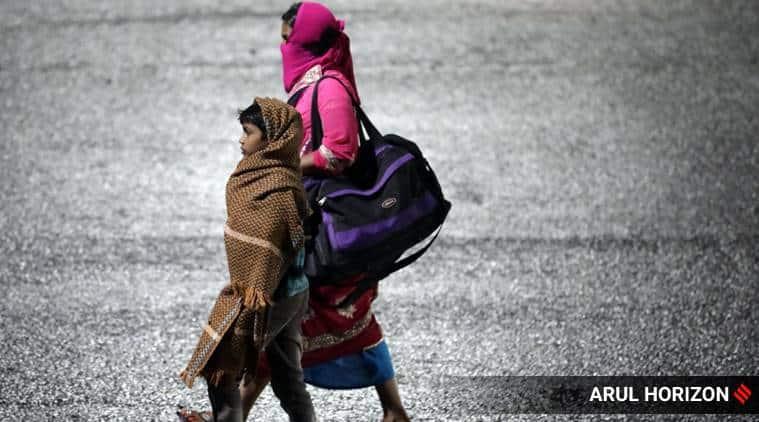 Migrant workers, India lockdown, Coronavirus cases, RSG Stones, Jaipur new, indian express news