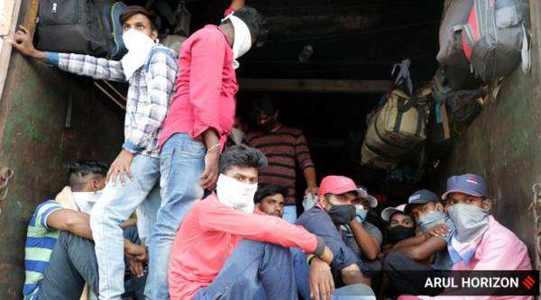 train ride, migrant workers, india lockdown, coronavirus cases, bicycle ride, indian express news