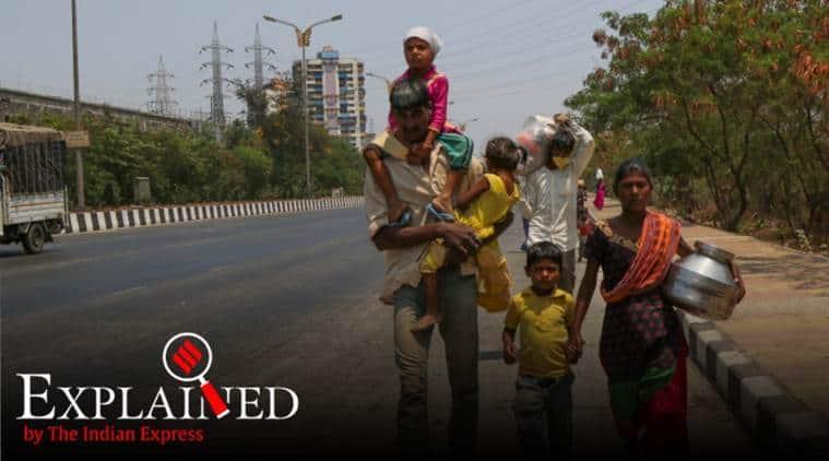 migrant labour crisis, india lockdown, migrant labour movement, coronavirus, coronavirus news, covid 19 tracker, covid 19 india tracker, indian express