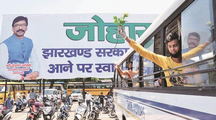 migrants, migrants train, jharkhand, odisha, migrants india, migrant movement, indian express