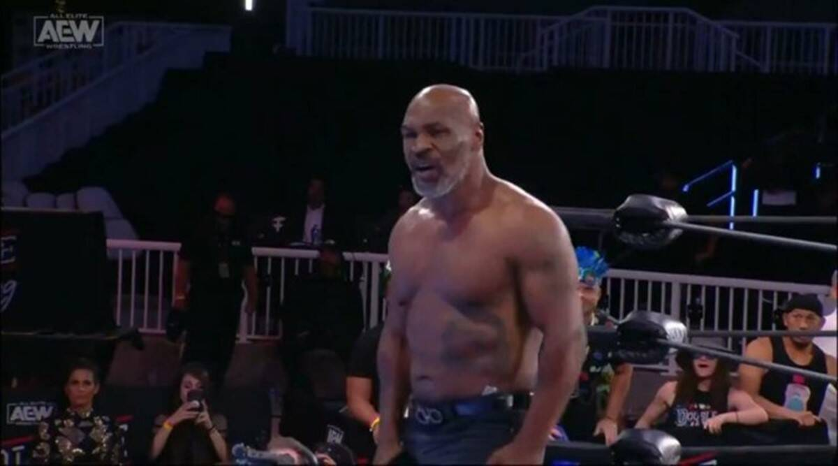 Watch Mike Tyson Scares Off Wwe Hall Of Famer In Aew Sports News The Indian Express