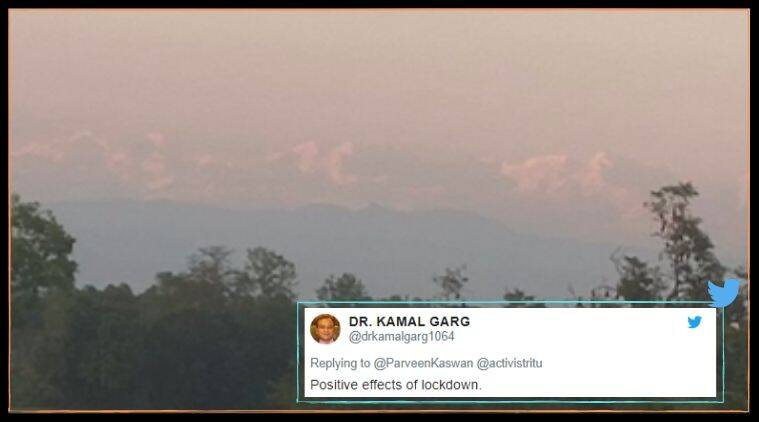 mount everest, mt everest seen from bihar, sitamari district everest, bihar village mt everest viral photo, covid 19 lockdown, mountains seen from cities, viral news, indian express