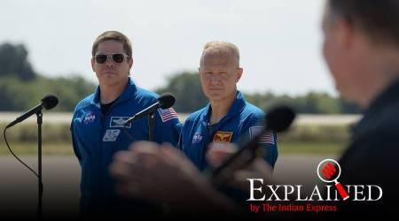 SpaceX's Demo-2 mission, NASA, SpaceX, Robert Behnken and Douglas Hurley, Crew Dragon, Commercial Crew Program, Falcon 9, LC-39A, international space station, express explained, Indian express