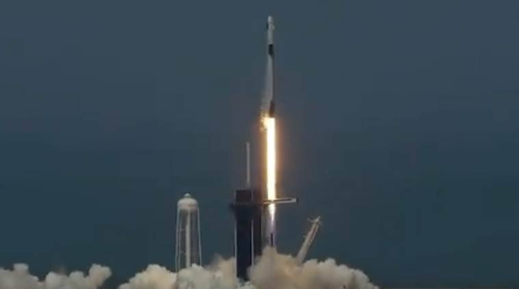 Tropical storm may delay 1st SpaceX crew's return to Earth