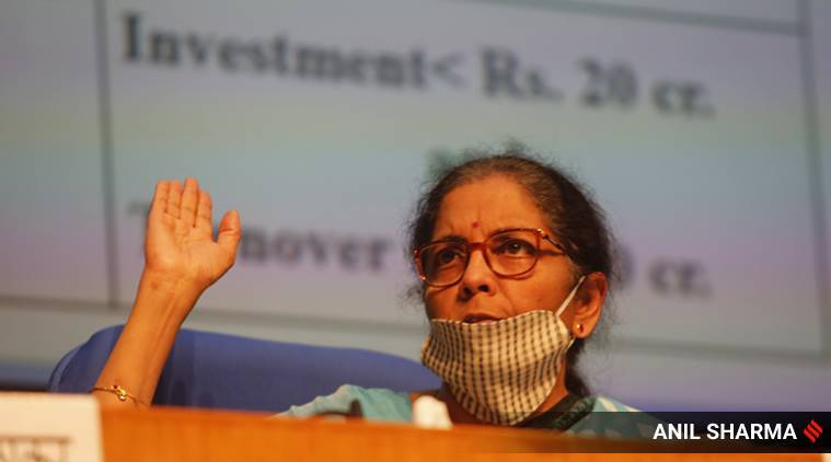 nirmala sitharaman, nirmala sitharaman press conference live, nirmala sitharaman economic package, nirmala sitharaman economic package announcement, nirmala sitharaman press conference updates, nirmala sitharaman press conference today