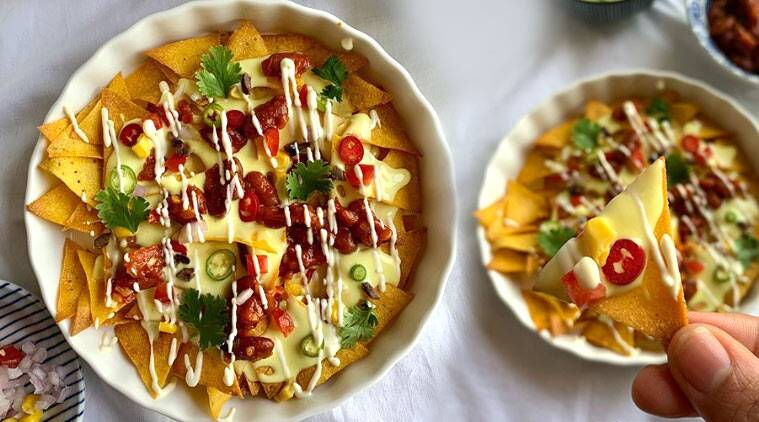 nachos, how to make nachos at home, tacotuesday, easy recipes, neha deepak shah recipes, evening snacks, movie snacks, how to make tacos, indianexpress.com, indianexpress,