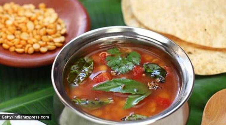 rasam recipe, easy rasam recipe, no rasam powder rasam, sambar powder, indianexpress.com, quarantine cooking, quarantine life, lockdown cooking, tomato rasam, south indian rasam, what to make for lunch, easy recipes, easy dinner recipes,