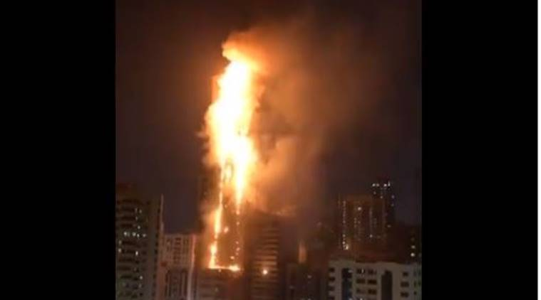 Sharjah fire, sharjah fire live updates, dubai sharjah building fire,