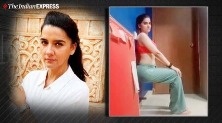 wall sits, workout at home, indianexpress, shruti seth, fitness goals, shruti seth fitness, indianexpress.com, mid-week motivation, inspiration, wall sit benefits, how to do wall sits, wall sit variations, lockdown fitness, quarantine life,
