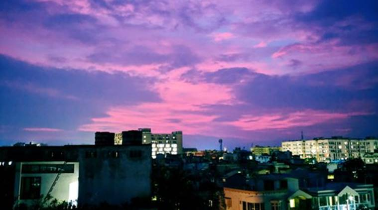 Cyclone Amphan, weather forecast, Odisha, west Bengal, bhubaneswar sky turns pink, twitter reactions